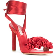 792f695e5857 Casadei rosette detail sandals (875 CAD) ❤ liked on Polyvore featuring shoes