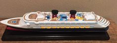 NEW Disney Cruise Line DCL Scale Model Ship Replica WONDER offer price@ GREAT! #disney