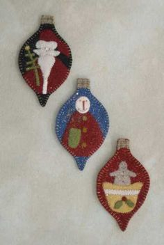 felt ornaments. I know her!!