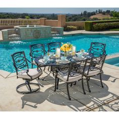 17 top patio furniture images patio dining sets 7 piece dining rh pinterest com