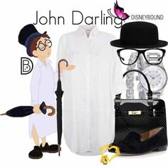 John Darling John Darling by leslieakay on Polyvore featuring Monsoon, Sam Edelman, Nixon, Alor, Oakley, disney, disneybound and disneycharacter<br> A fashion look from November 2015 by leslieakay featuring Monsoon, Nixon, Alor, Sam Edelman and Oakley Peter Pan Costumes, Disney Inspired Fashion, Disney Fashion, Disney Bound Outfits, Disneyland Outfits, Estilo Disney, Character Inspired Outfits, Disney Designs, Dapper Day