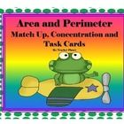 Area and Perimeter Match Up, Concentration and Task Cards are a fun way to learn and understand area and perimeter. There are 4 sets of color-code...