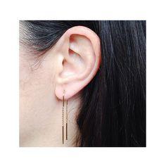 LAST CHANCE: U Chain Earrings #rosegold