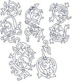 Advanced Embroidery Designs - Medieval Motif Redwork Set