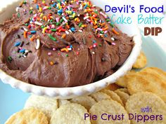 Devil's Food Cake Batter Dip with Pie Crust Dippers!