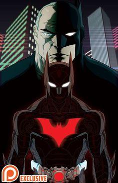 I am Batman Beyond the Tomorrow Knight. The biological son of Batman the Dark Knight. Arte Dc Comics, Bd Comics, Bruce Timm, Batman Beyond Terry, Batman Universe, Dc Universe, Univers Dc, Batman Tattoo, Batman And Superman