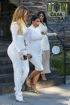 All work: The ladies were not made up for each other. They were filming an episode of Keeping Up With The Kardashians