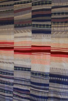 """recycled shirt quilt"" ""recycled quilt"" ""cool quilt"" ""cool recycled quilt"" from Mamaka Mills Patchwork Quilting, Scrappy Quilts, Blue Quilts, Textiles, Recycled Shirts, Recycled Clothing, Recycled Fashion, Plaid Quilt, String Quilts"