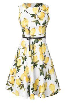 Cupshe Flowers Waves Sleeveless Dress