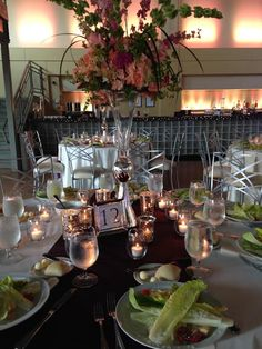 Pre-Plated Casear Salad Wedding on May 9. 2015 The Ice House In Bloom Again Florals  #theicehouse #icehouselouisville #crushediceevents #inbloomagain