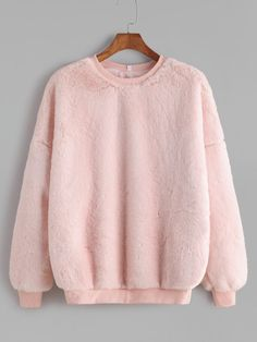 To find out about the Pink Drop Shoulder Fluffy Fleece Sweatshirt at SHEIN, part of our latest Sweatshirts ready to shop online today! Casual Skirt Outfits, Girly Outfits, Cool Outfits, Girls Fashion Clothes, Fashion Outfits, Trendy Hoodies, Kawaii Clothes, Ladies Dress Design, Sweater Hoodie