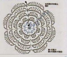 ergahandmade: סרוגה חתוך, עם פרחים + שלב תבנית חינם על ידי שלב + תרשים