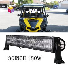 78 best atvutv led light barled work light images on pinterest 30 led light bar polaris rzr xp900 xp1000 utv truck marine boat rv side by aloadofball