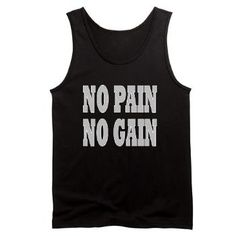 No Pain No Gain dark sports wear from OXgraphics.