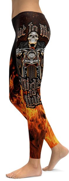 Live to Ride - Ride to Live Biker Leggings