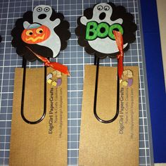 Halloween jumbo clip bookmark