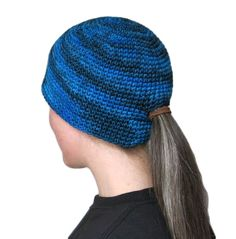 Wear a ponytail and a beanie at the same time! Crochet Cap ad6756eae488