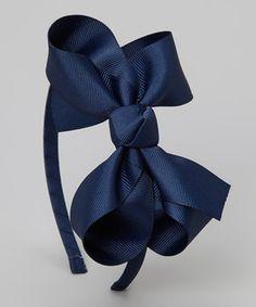 Look at this #zulilyfind! Navy Bow Headband by Bourbon Street Boutique #zulilyfinds