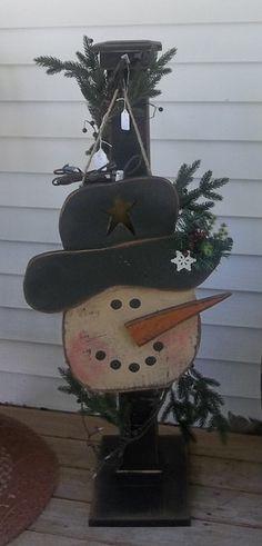 snowman post