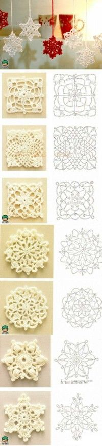 "Crochet Motifs. Perfect to make my ""blizzard"" curtains I've been wanting to make for a while. :)"