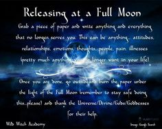 Releasing at the full moon
