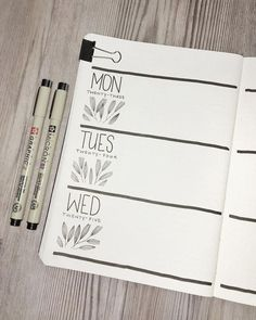 Bullet journal weekly layout, plant drawing, leaf … – - All About Bullet Journal Page, Bullet Journal Weekly Layout, Bullet Journal Inspo, Bullet Journal Spread, Bullet Journals, Art Journals, Leaf Drawing, Plant Drawing, Drawing Drawing