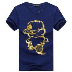 綿3DT-shirts男性2016夏新arrvial面白い十代の男の印刷tシャツ拡張プラスサイズ4xl 5xl白黒赤