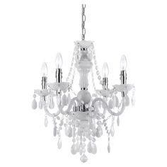 Add a pop of style to your foyer or master suite with this handmade mini chandelier, showcasing prism-cut accents and scalloped bobeches.