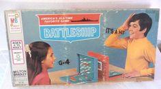 Vintage Battleship Board Game 1971 Complete Milton Bradley Naval Combat War #MiltonBradley
