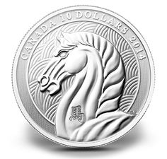 1/2 oz. Fine Silver Coin Year of the Horse The year 2014 is ruled by the Horse. The Horse personality embodies life, liberty and happiness. He's amazingly agile, physically and mentally; a master problem-solver. After everyone else has given up, the Horse will saunter in with an ingenious and practical solution
