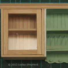 Make Opening Glass Front Upper Cabinets for a DollhouseKitchen