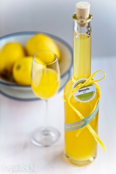 Limoncello is an Italian lemon liqueur mainly produced in Southern Italy, traditionally, made from the zest of Femminello St. Teresa lemons. Lemon zest, or peels without the pith, are steeped in grain alcohol until the oil is released. The resulting yellow liquid is then mixed with syrup. Most lemons, will produce satisfactory limoncello. Limoncello is traditionally served chilled as an after-dinner digestive.