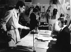 Yves Saint Laurent and Pierre Berge at the rue Jean-Goujon in 1961 finalising