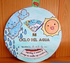 II> ★★★★ Children's water cycle – teaching materials and teaching materials for primary school children. Free water cycle for children. Science Crafts, Science Activities, Science Projects, School Projects, Projects For Kids, Spanish Projects, Science Classroom, Teaching Science, Science For Kids