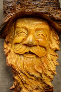 Wood carving Wood Spirit Gnome Elf Wizard by TreeWizWoodCarvings, $90.00