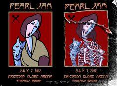 2012 Pearl Jam - Stockholm Silkscreen Concert Poster by Emek/Mouse AP
