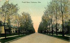 Coshocton Ohio Fourth Street Postcard C1910   eBay