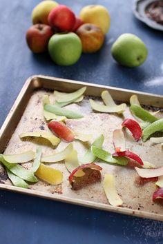 Chips de pelures de fruits (pommes ou poires)