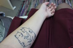 Cat Fox Love Tattoo Commission by juliapott, via Flickr