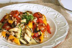 Farro con verdure grigliate