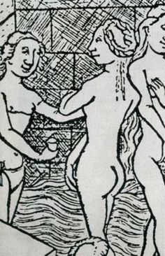 Early Modern Period, Late Middle Ages, Medieval Costume, 14th Century, Roman Empire, Tribal Tattoos, Renaissance, Bathing, Miniatures