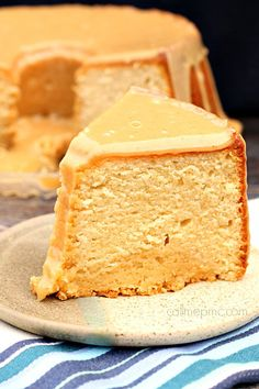 Peanut Butter Pound Cake - a peanut butter filled pound cake smothered in peanut butter glaze! Def for the peanut butter lover!