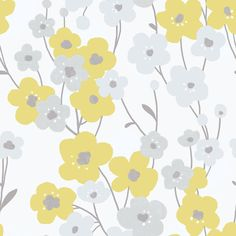 Blossom Yellow wallpaper by Galerie