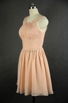 Aline Straps Mini Chiffon Bridesmaid Dress 2013 by DressbLee, $89.00