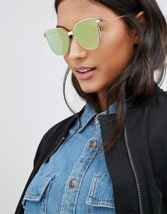 AJ Morgan | AJ Morgan Flat Lens Cat Eye Sunglasses in Rose Gold