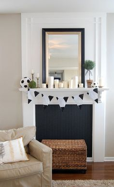Faux fireplace tutorial. love this one, Harrison Home: January 2013