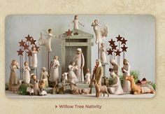 Willow Tree Nativity... So pretty! I have a few more pieces to add so that mine looks like this!