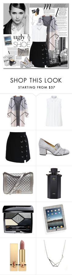 """ugly shoe"" by mery90 ❤ liked on Polyvore featuring Whiteley, John Lewis, Chicwish, Steve Madden, Chanel, Gucci, Christian Dior, Yves Saint Laurent and FOSSIL"