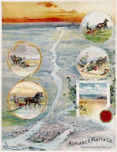 Lovely promotional for farm equipment maker Adriance Platt & Co., 1880s  A rare and lovely chromolithographic promotional for farm equipment maker Adria... - Boston Rare Maps Inc - Google+