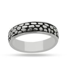925 Sterling Silver Plain Tribal Oxidized Ring